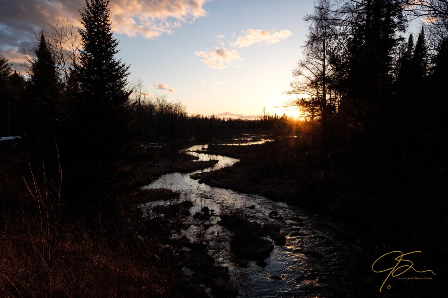 winding river sunset 9848