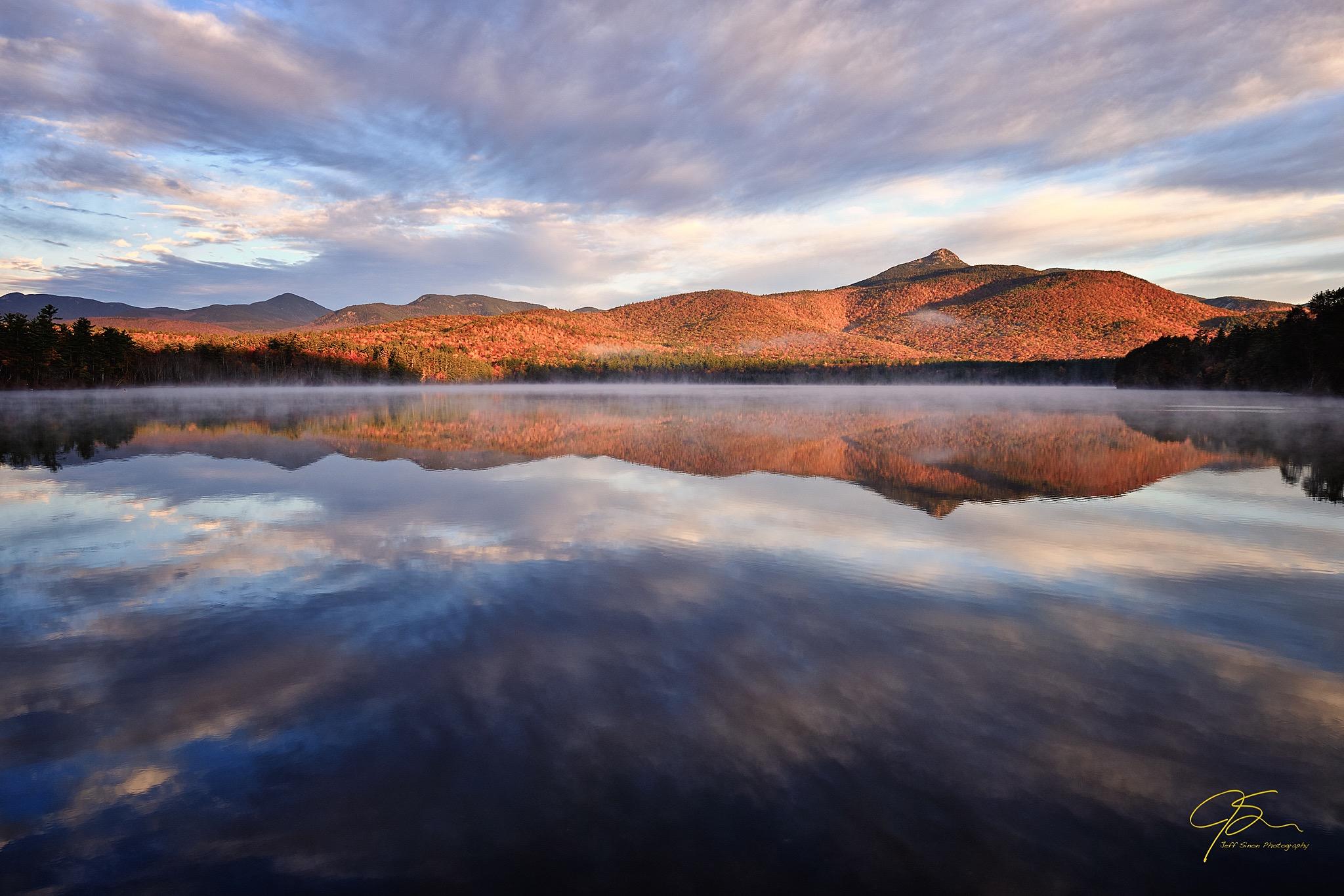mount chocorua autumn reflections on chocorua lake