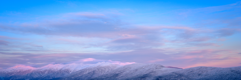 Alpenglow on the snowy Presidential Range.